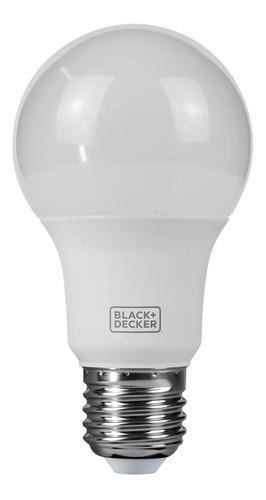 kit 10 lâmpadas led bulbo 9w  amarela - black + decker