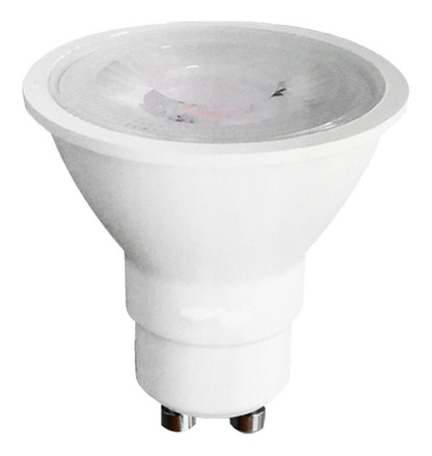 kit 10 lâmpadas led dicróica gu10 7w luz amarela