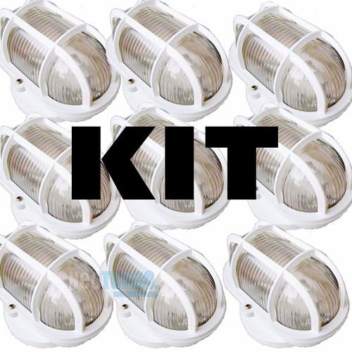 kit 10 luminária arandela tartaruga resistente sol e chuva