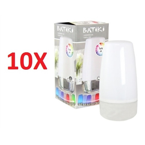 kit 10 luminaria infantil 7 cores led abajur de mesa sem fio