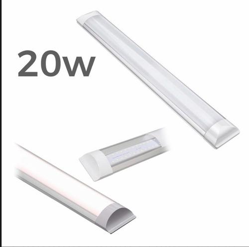 kit 10 luminária led 20w 60cm. branco frio 6000k