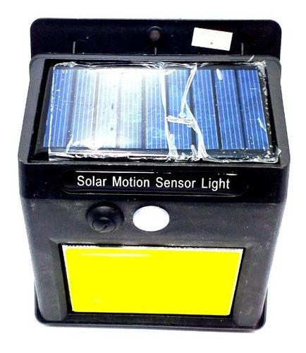 kit 10  luminaria solar 48 leds lampada sensor movimento