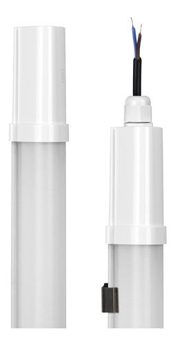 kit 10 luminarias led linear pro ip65 18w 60cm branca - b+d
