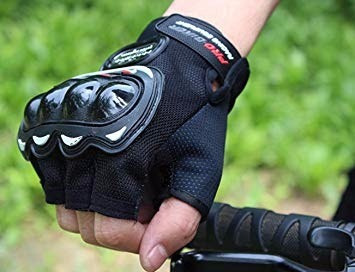 kit 10 luvas moto meio dedo motociclista bike atacado