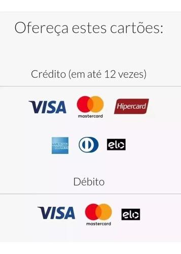 kit 10 maquina cartão point mini r$12 fretegrátis 12xs/juro