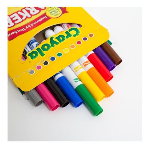 kit 10 marcadores quadro canetinhas infantil cores vivas