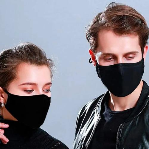 kit 10 máscara de proteção tecido duplo lavável reutilizável