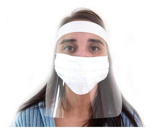 kit 10 mascara facial protetora anti cuspir face shield