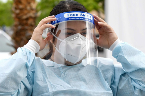 kit 10 mascara protector facial antifluidos antisalpicaduras