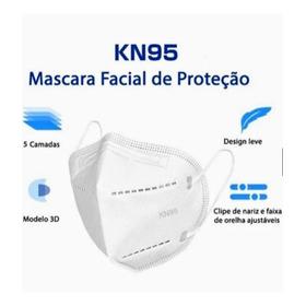 Kit 10 Máscaras Kn95 Formato Anatômico Multiplas Camadas