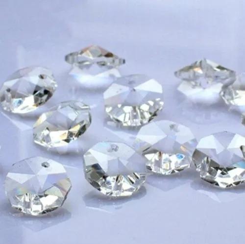 kit 10 metros de corrente castanhas 14mm cristal k9 lustres