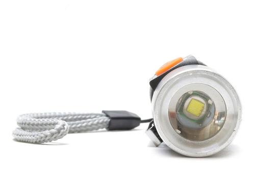 kit 10 mini lanterna tatica  led  q5  recarregável via usb