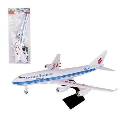 kit 10 miniatura avião a fricção air china pedestal atacado