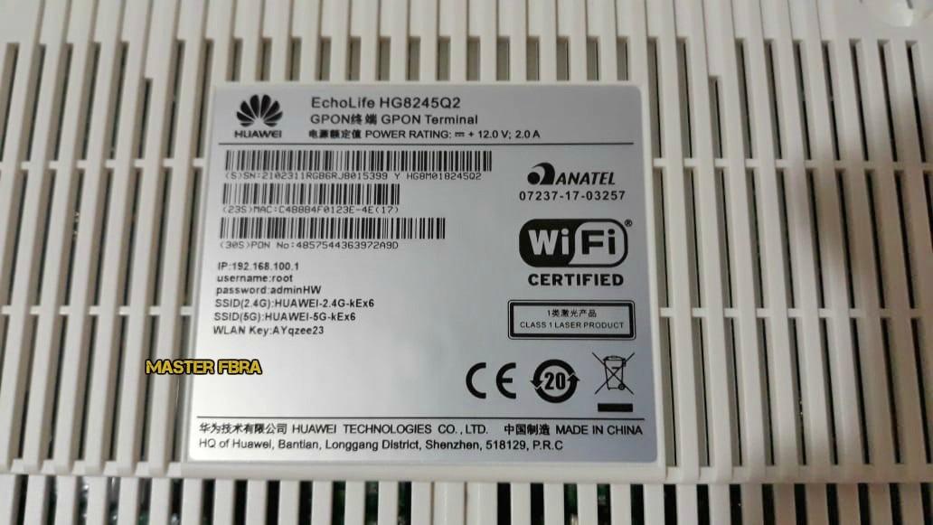 Kit 10 Modem Fibra Ont Huawei Hg8245q2 2xpot + 4xge 2,4g/5g