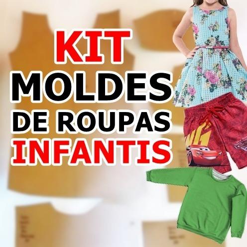 0747ca189f Kit 10 Molde De Roupa Infantil Modelagem Frete Grátis - R  300