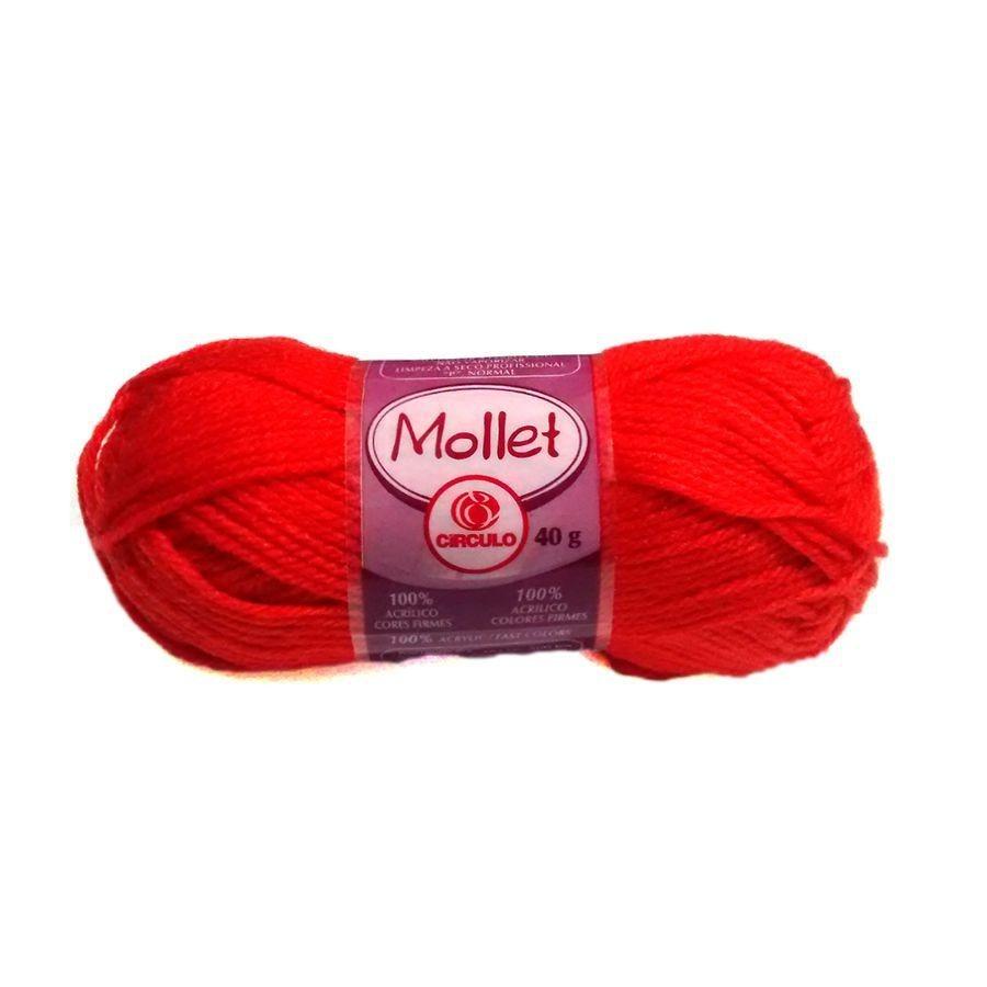 e6a2271f88 Kit 10 Novelos Lã Mollet 40g - Cores Sortidas - R$ 26,00 em Mercado ...