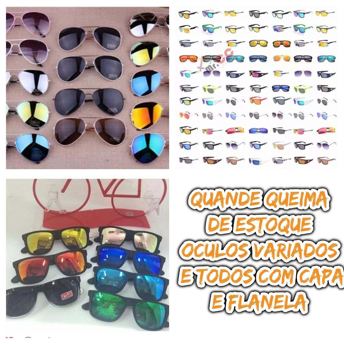cd2c6c7c6 Kit 10 Óculos De Sol Adulto Proteção Uv Para Atacado/revenda - R ...