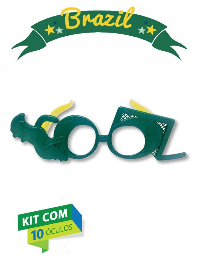 fbdae23a3d0ed kit 10 óculos gol copa mundo russia brasil festa fantasia. Carregando zoom.