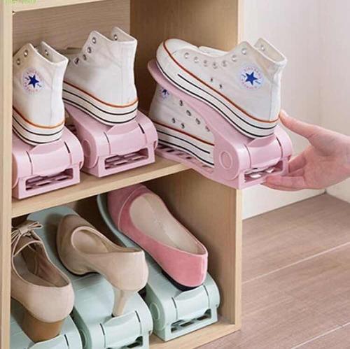 kit 10 organizador de sapatos rack ajustável