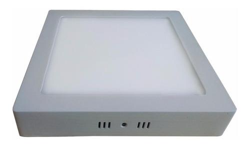 kit 10 painel plafon de led 18w sobrepor quadrado + reator