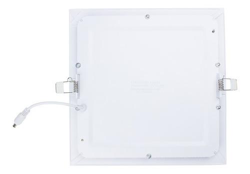 kit 10 painel plafon led 18w embutir quadrado luminária slim
