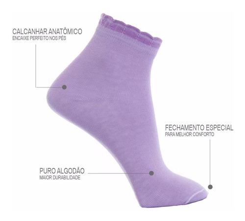 kit 10 pares meia feminina puro algodão, qualidade superior!