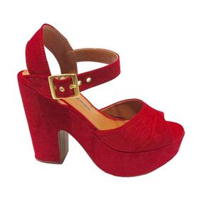 8f41b0a38f Sapato Anabela Veludo - Sandálias e Chinelos para Feminino no ...