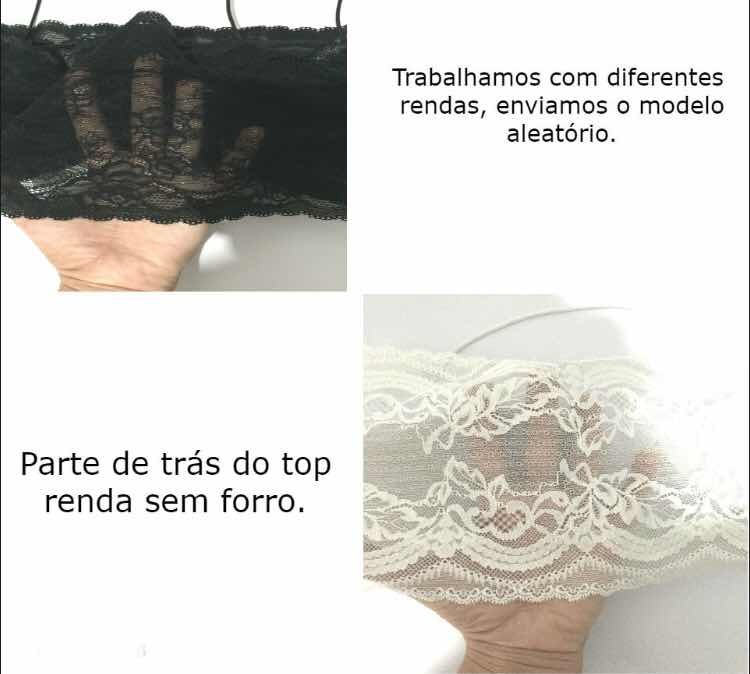 f279899b5 Kit 10 Peça Top Faixa Renda Cropped Brallet Alça E Bojo - R  300