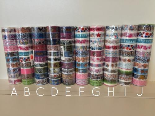 kit 10 pecas deco tape fita colorida washi tape