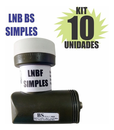 kit 10 peças lnb simples universal brasilsat semi novo
