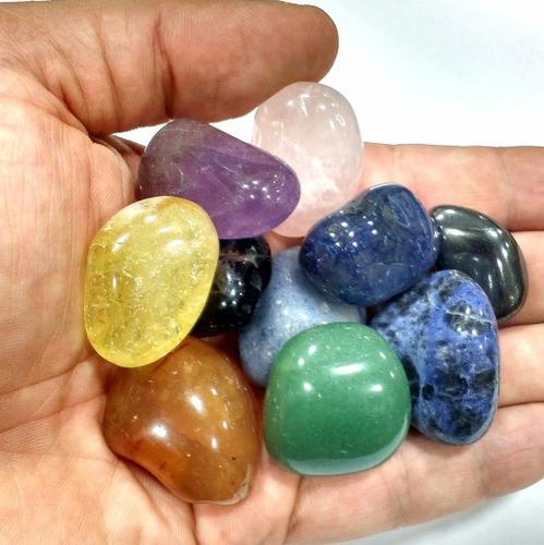 kit 10 pedras dos chacras semipreciosas naturais p/ energia