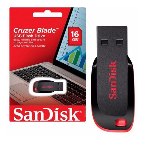 kit 10 pen drive 16gb cruzer blade usb 2.0 sandisk lacrados
