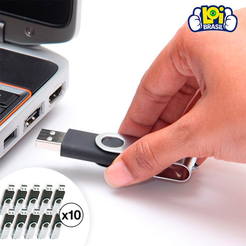 kit 10 pen drive 32gb multilaser twist pd589 segurança de dados original lacrado nota fiscal oferta loi