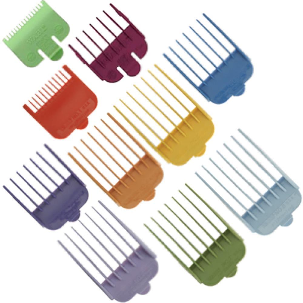 b8ff06966 kit 10 pentes guia coloridos maquina cortar cabelo wahl 12x. Carregando  zoom.