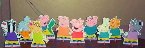 kit 10 peppa pig de mesa,display,festa infantil,mdf
