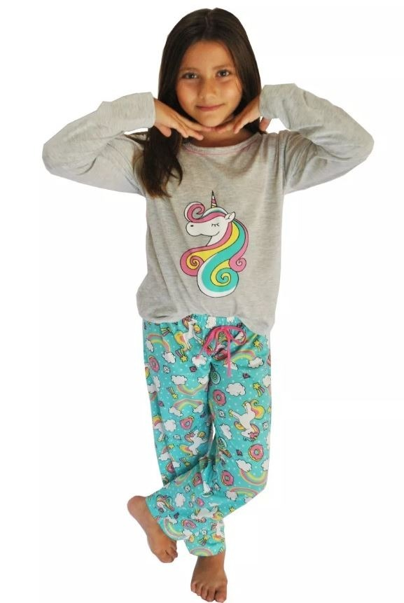 37cc55447 kit 10 pijama unicórnio inverno longo menina infantil 015. Carregando zoom.