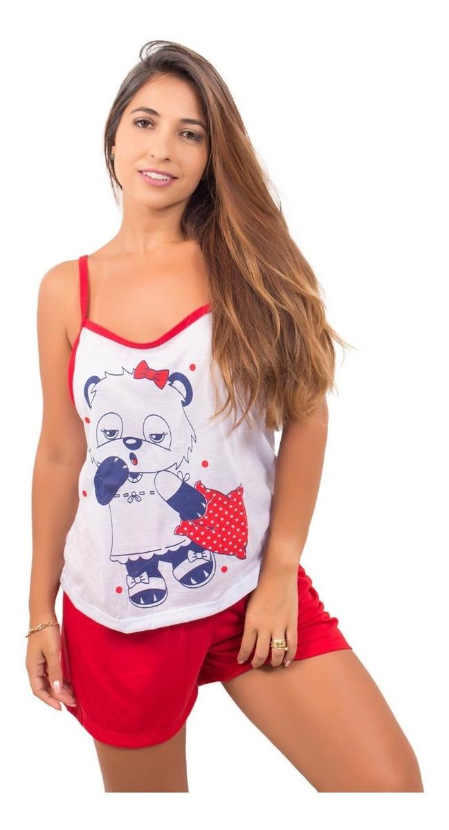 65ad83132f5995 Kit 10 Pijamas Feminino Melhor Preço Adulto Camiseta E Short