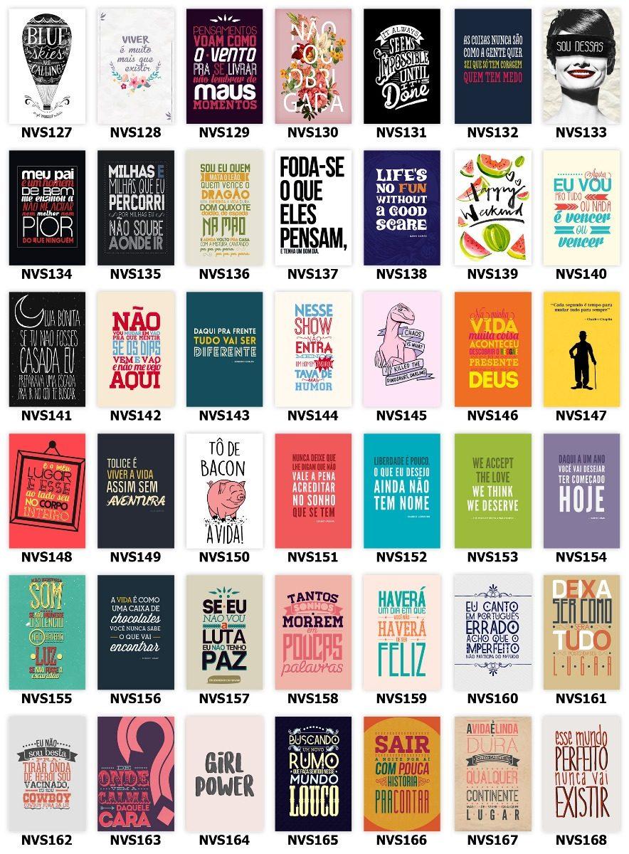 Kit 10 Placa Decoração20x30 Frases Motivacionais Retro