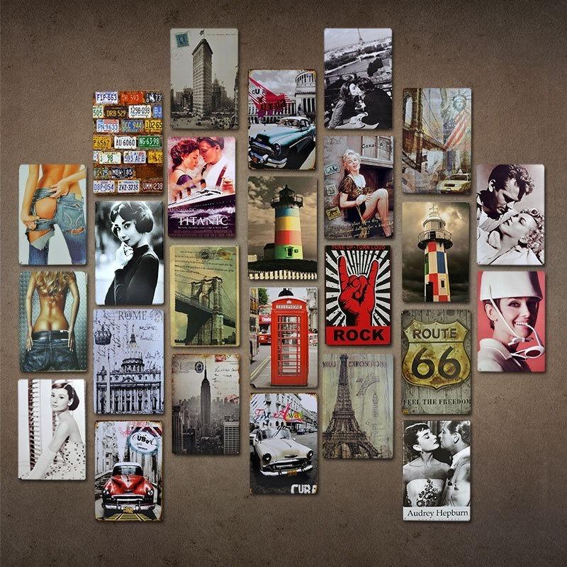 Kit 10 Placas Decorativas Metal Frases Motivacionais 20x30