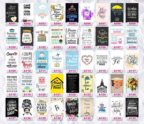 kit 10 placas decorativas pvc 20x30 bebidas frases games