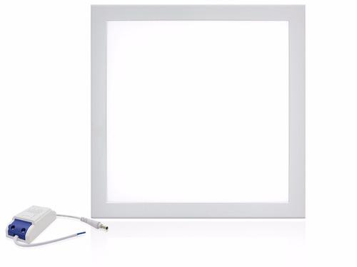 kit 10 plafon embutir painel led 50w 62x62 quadrado frio