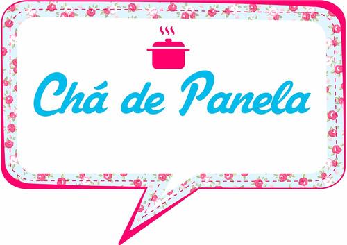 kit 10 plaquinhas chá de panela - cozinha -  festas