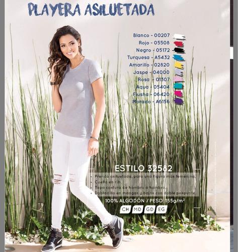 kit 10 playeras cuello redondo optima dama