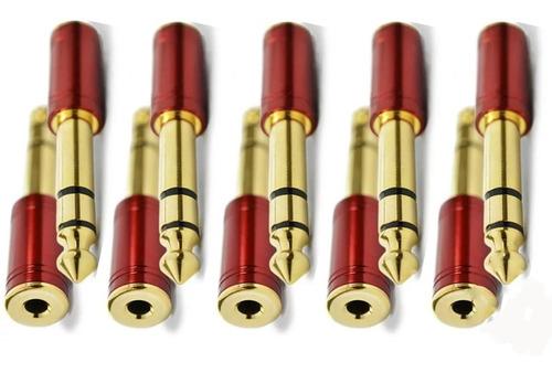 kit 10 plug adaptador p2/p10 conector fone santo angelo