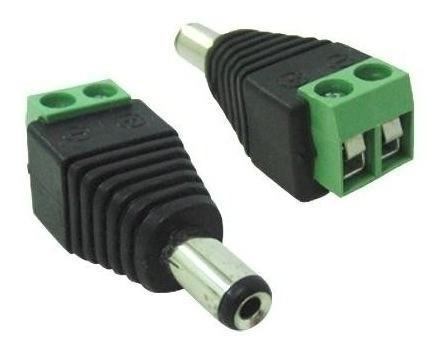 kit 10 plug conector p4 macho p/ cftv camera borne kre