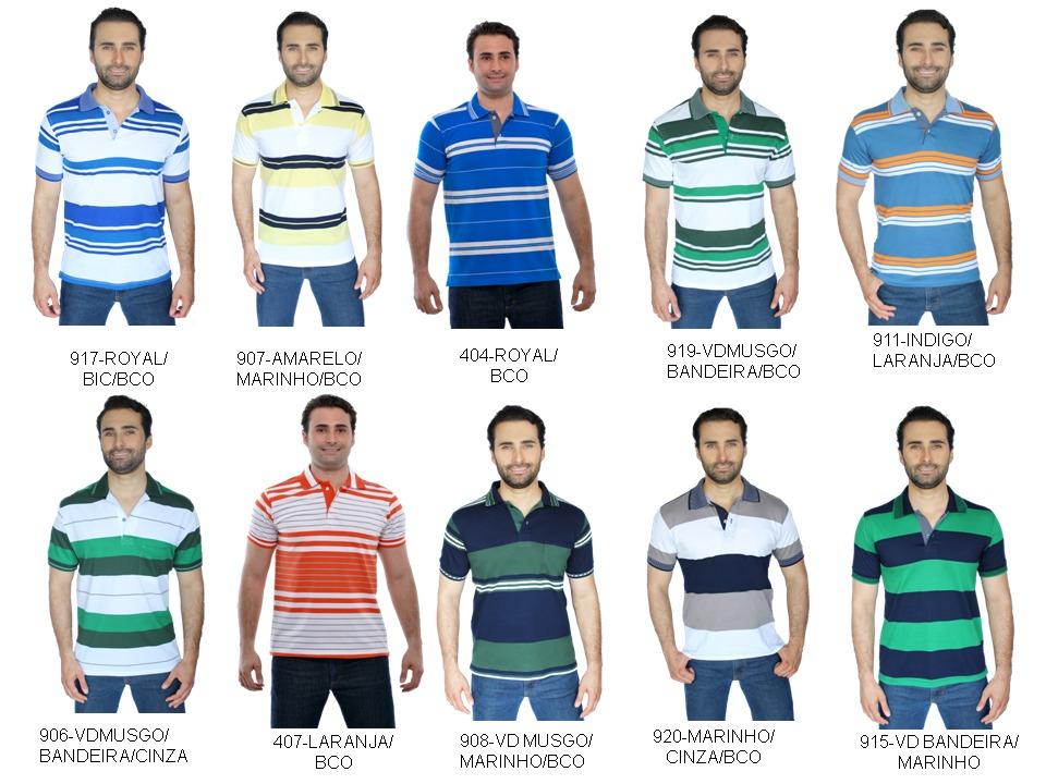 kit 10 polo pp ao gg (40 cores)masculina e feminina uniforme. Carregando  zoom. 3b8435495d098