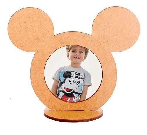 kit 10 porta retrato mickey mdf crú lembrancinha  r26 mesa