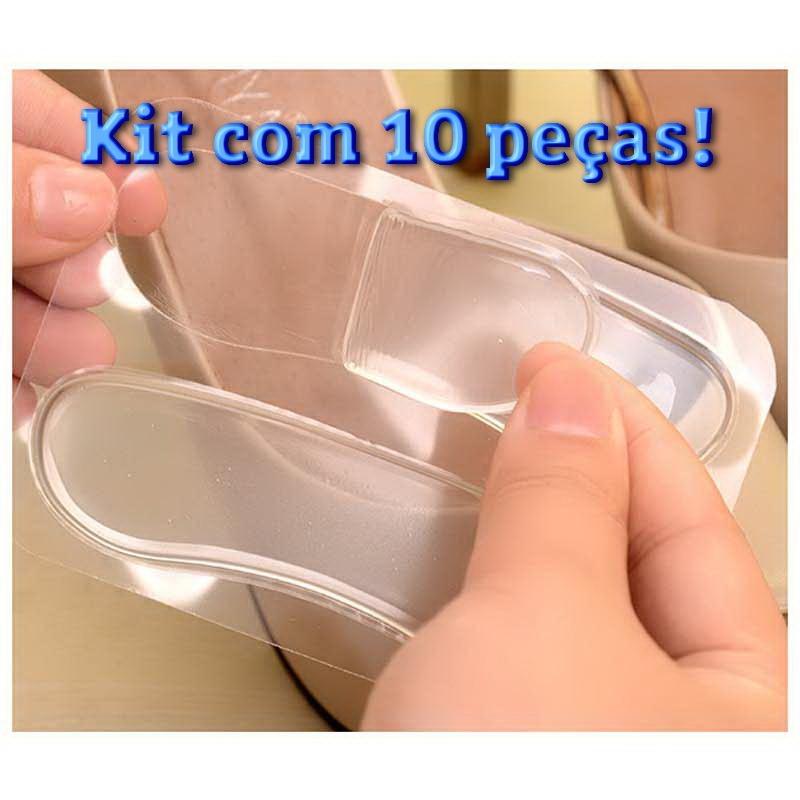 630d89e62e9d2 Kit 10 Protetor Calcanhar Sapatos Gel Silicone + Confortável - R  40 ...