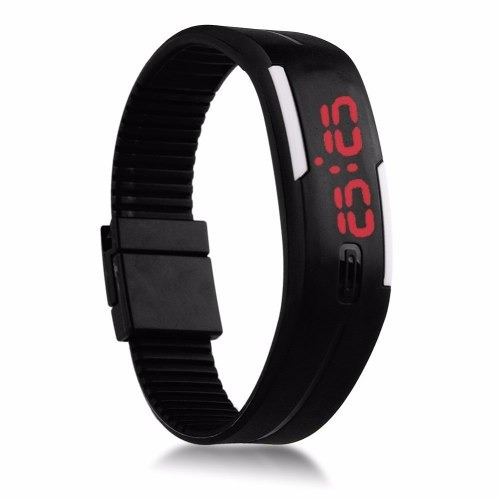 kit 10 pulseira silicone relógio led s/nike sport bracelete