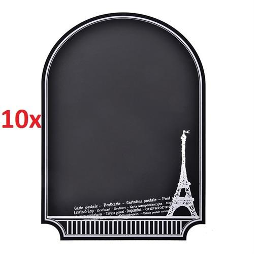 kit 10 quadro negro adesivo mural de recados lousa de aviso